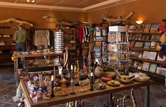 Large Curio Shop at Sossusvlei Lodge