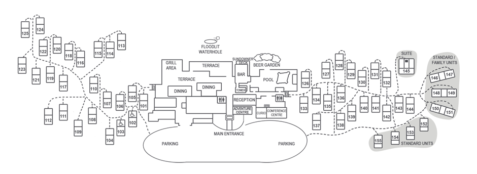 Sossusvlei Lodge Layout