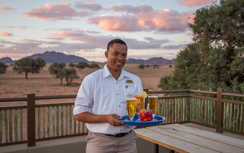 Friendly service at Sossusvlei Lodge